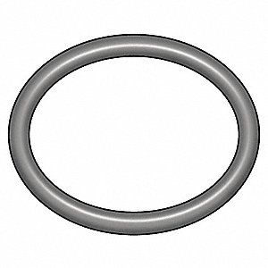 Round Medium Hard Buna N O-Ring, 43.0mm I.D., 49mmO.D., 10PK