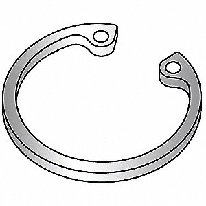 Retaining Ring,Inter,1/2in Bore,PK50