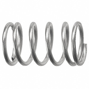 Compression Spring,0.045in.Wire dia,PK10
