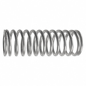 Metric Compression Spring, 3-1/2in.L, PK10