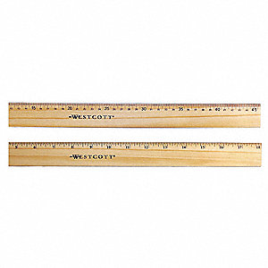 Ruler,Wood,18 In