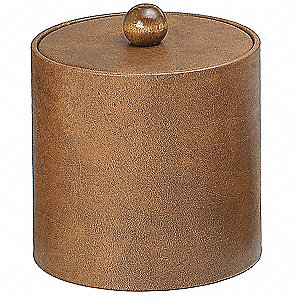 Walnut Plastic/Leatherette Ice Bucket, 3 qt., 12 PK