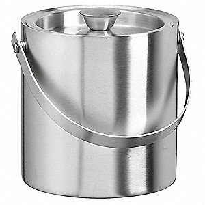Silver Stainless Steel Ice Bucket, 3 qt., 12 PK