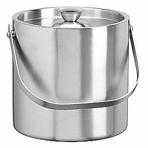 Silver Stainless Steel Ice Bucket, 1.5 qt., 6 PK