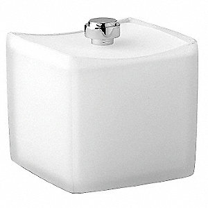 "White Frost Resin Accessory Jar, 3-3/4 x 3-3/4 x 4-1/4"", 24 PK"
