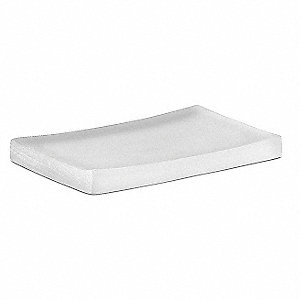 "White Frost Resin Soap Dish, 5-1/4 x 3-1/2 x 1/2"", 24 PK"