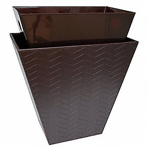 Liner,14 x 8-3/4 x 12 In,Brown,PK12