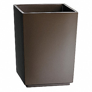 Waste Basket,6-1/2x7-1/4x10In,Brown,PK6