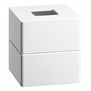 "White Resin Tissue Cover, 5-1/2 x 5-1/2 x 5-3/4"", 12 PK"