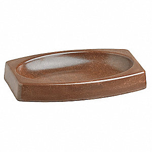 Soap Dish,5-1/2x3-1/2x3/4 In,Brown,PK24
