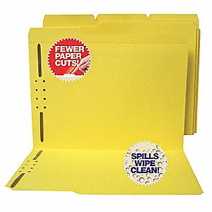 "File Folders with Fasteners, 1/3 Tab Cut, 9-1/2"" Height, 11-5/8"" Width"