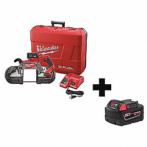 Cordless Band Saw Kit,44-7/8in,Bat,Light