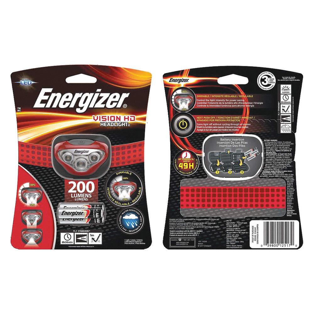Headlight led 3aaa 200 lumens