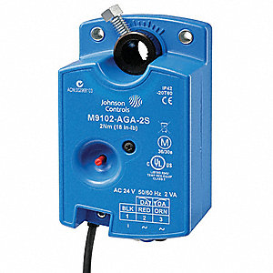 24VAC On/Off, Floating Electric Actuator, -4° to 125°F, 18 in.-lb., 30 sec., Includes: Anti Rotation