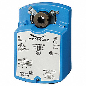 24VAC Floating 2 SPDT Electric Actuator, -4° to 125°F, 53 in.-lb., 60 sec., Includes: Anti Rotation