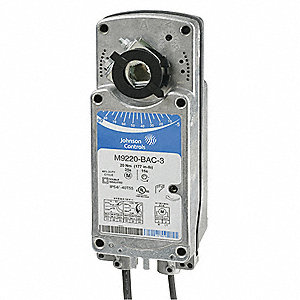 24VAC/DC On/Off Electric Actuator, -40° to 131°F, 177 in.-lb., 24 to 57 sec., Includes: Anti Rotatio