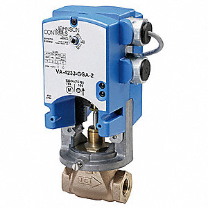 On-Off Electric Globe Valve Actuator, 76 sec. Cycle Time, 61 in.-lb. Torque