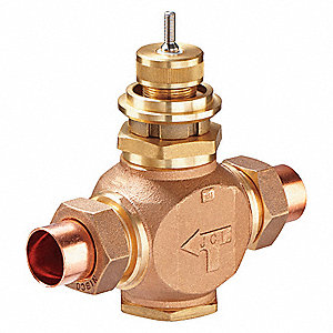 Globe Valve,2-Way,NO,1-1/2 In,Union