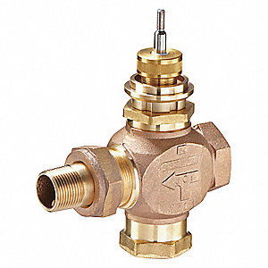 Globe Valve,2-Way,NO,1/2 In,Union Angle