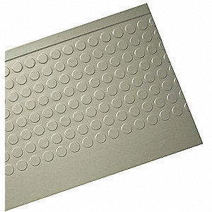 Stair Tread Cover,Gray,48in W,Rubber