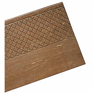 "Mahogany, Rubber Stair Tread Cover, Installation Method: Adhesive, Square Edge Type, 72"" Width"