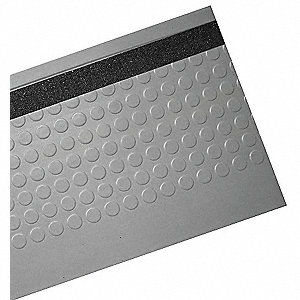 Sure Foot Gray With Black Anti Slip Rubber Stair Tread