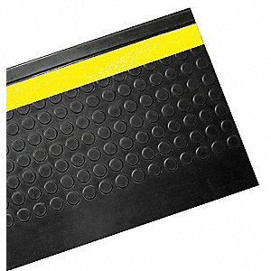 Stair Tread Cover,Black,72in W,Rubber