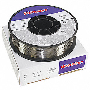 "10 lb. Stainless Steel Spool MIG Welding Wire with 0.035"" Diameter and ER308LSI AWS Classification"