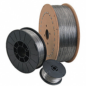 "10 lb. Stainless Steel Spool MIG Welding Wire with 0.035"" Diameter and 308LFC-O X AWS Classification"