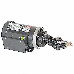 Rotary Gear Pump, 125 psi, Cast Iron, 1-1/2 HP, 1 Phase