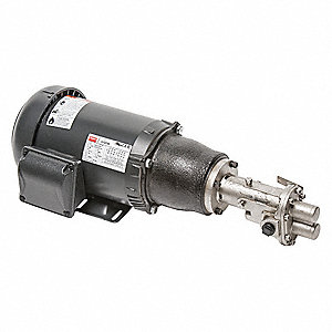 Rotary Gear Pump, 125 psi, 316 Stainless Steel, 1-1/2 HP, 3 Phase