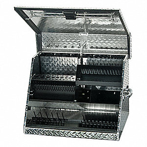 "Portable Tool Box, Aluminum, 26"" Overall Width x 17-3/8"" Overall Depth"