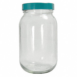 Wide Mouth Round Bottle, Sampling, Glass, 240mL, Clear, 24 PK