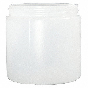 Wide Mouth Straight Side Round Jar, Sampling, Plastic, 960mL, White, 84 PK