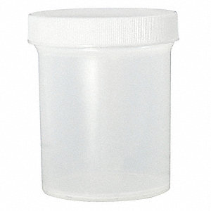 Wide Mouth, Round, Sampling, Polypropylene, 480mL, 24 PK