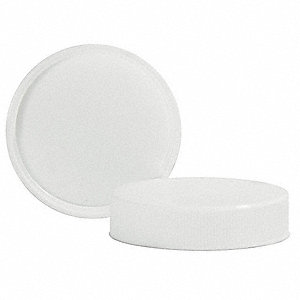 Polypropylene Screw On Wide-Mouth Closure, White, 144 PK