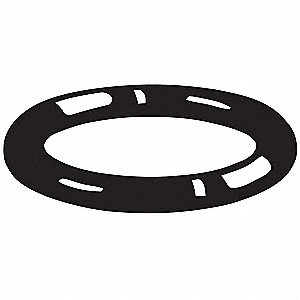 "Round #252 Medium Hard Silicone O-Ring, 5.234"" I.D., 5.512""O.D., 10PK"
