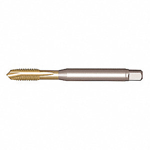 "3/8""-16 Tap, Plug, 3 Flutes, High Speed Steel, Uncoated Tap Finish"