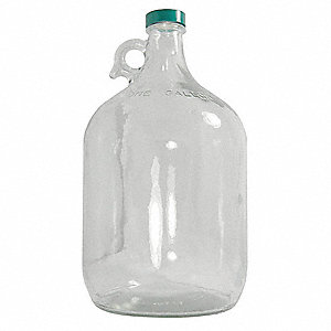 Glass Precleaned Jug, 128 oz. 4PK