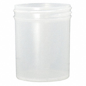 Jar,240mL,Plastic,Wide,PK168
