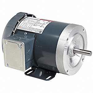 1 HP General Purpose Motor,3-Phase,1725 Nameplate RPM,Voltage 208-230/460,Frame 56HC