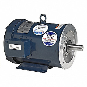 5 HP General Purpose Motor,3-Phase,3495 Nameplate RPM,Voltage 230/460,Frame 184TC