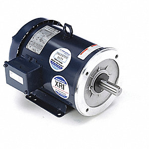 2 HP General Purpose Motor,3-Phase,1180 Nameplate RPM,Voltage 230/460,Frame 184TCV