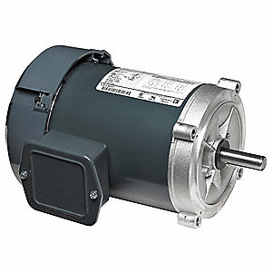 2 HP General Purpose Motor,3-Phase,3490 Nameplate RPM,Voltage 208-230/460,Frame 145TC