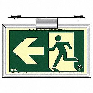 RUNNING MAN T-BAR ARROW LEFT