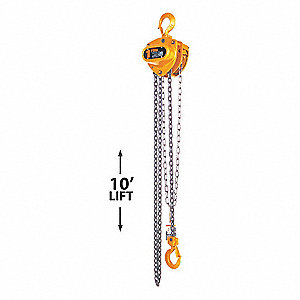 HOIST MANUAL STEEL 1/2T 10FT