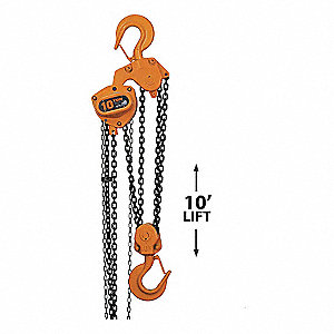 HOIST MANUAL STEEL 10T 10FT
