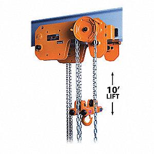 HOIST/TROL MANUAL STEEL 1T 10FT