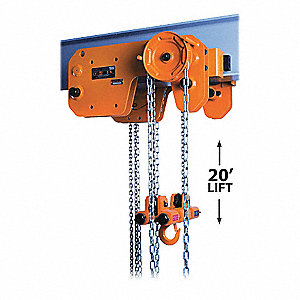 HOIST/TROL MANUAL STEEL 3T 10FT