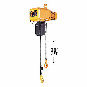 HOIST 115V 1T 20FT LFT 14FPM